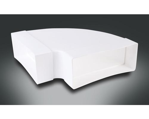 Coude de tube plat horizontal Rotheigner blanc 220x90 mm 90 degrés