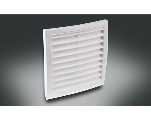 Grille extérieure Rotheigner blanc pour raccord rond DN 100 mm