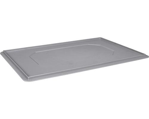 Couvercle de boîte/corbeille empilable 600x20x400 mm gris