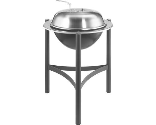 Barbecue au charbon de bois Tenneker® TC-Deluxe Ø 54 cm avec couvercle acier inoxydable