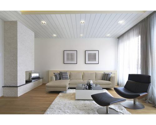 Panneau de décoration Vario Plus Ultra blanc 10x150x2600 mm