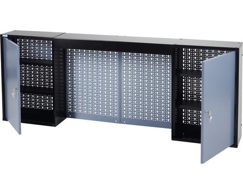 Hängeschrank Küpper Hammerschlag-Silber 1600 mm 4 Böden, 2 Türen