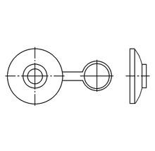 Cache-vis pour vis pour fibrociment avec insert en acier 100 pièces-thumb-1