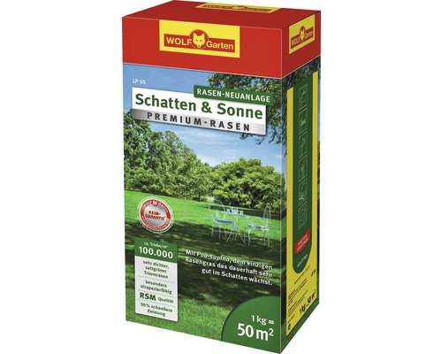 Semences de gazon WOLF-Garten Premium Ombre-Soleil 1 kg