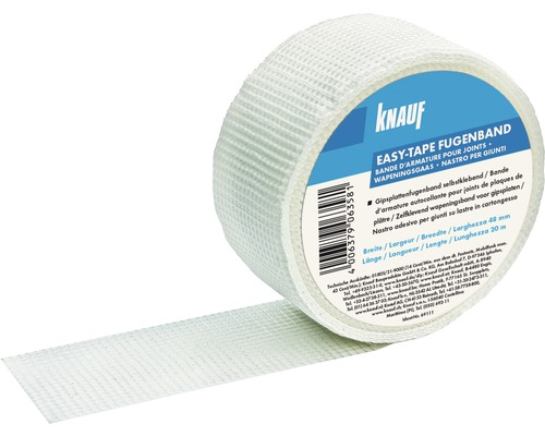 Bande couvre-joint Knauf Easy-tape 20 m x 50 mm
