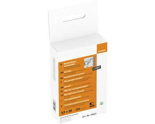 Vis pour construction rapide Fermacell pour plaque de fibres-gypse 3,9 x 30 mm paquet = 250 pièces