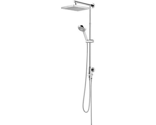 Duschsystem Schulte Classic DuschMaster Rain D9631 02 eckig chrom mit Umsteller