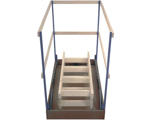 Garde-corps pour escalier escamotable