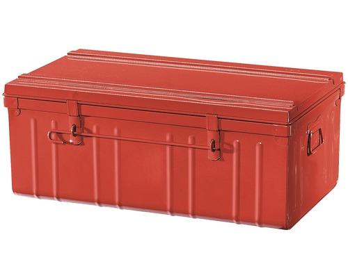 Coffre métallique rouge 800x450x350 mm