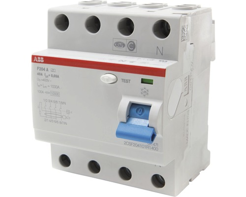 Disjoncteur différentiel ABB F204A-40/0,03 40A 30mA interrupteur FI 4 pôles