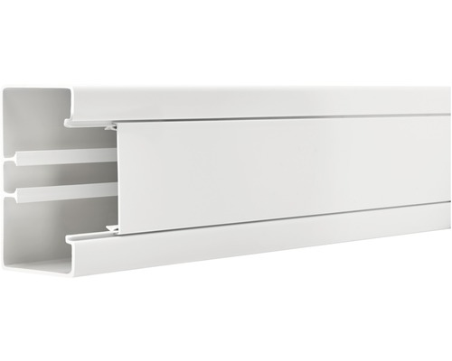 Canal d''allège 65 x 130/80 mm x 2 m blanc pur