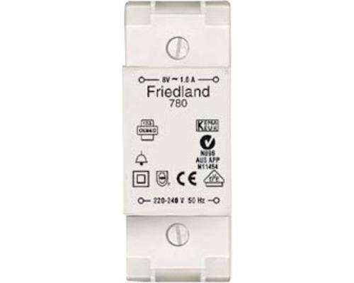 Transformateur de sonnette VDE D780 Friedland 8V/1A