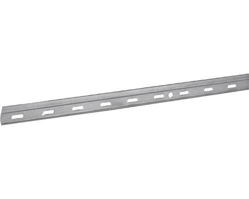 Rail de suspension pour armoire 2000 x 29 x 6,5 mm, acier galvanisé, 1 pièce