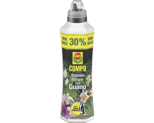 Engrais pour fleurs Compo avec Guano Compo 1,3 L