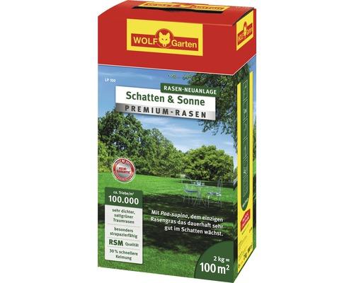 Semences de gazon WOLF-Garten Premium Ombre-Soleil 2 kg