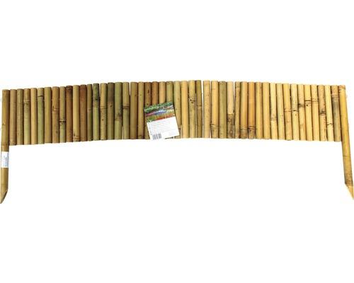 Délimitation de parterre en bambou 120x20 cm, nature