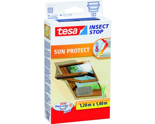 Moustiquaire pour fenêtre de toit Sun Protect tesa Insect Stop Comfort anthracite 120x140 cm