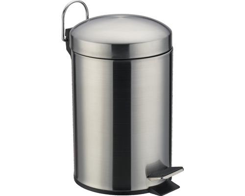 Poubelle à pédale en acier inoxydable 3 litres