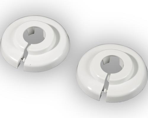 Klapprosette 12 mm PVC weiß 2 Stück
