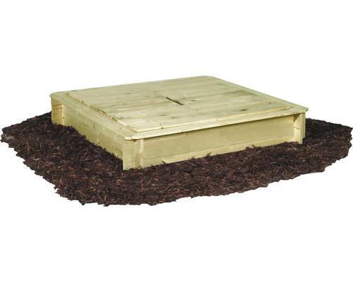bac sable bois avec couvercle 120x120x28 cm trait en autoclave par impr gnation hornbach. Black Bedroom Furniture Sets. Home Design Ideas