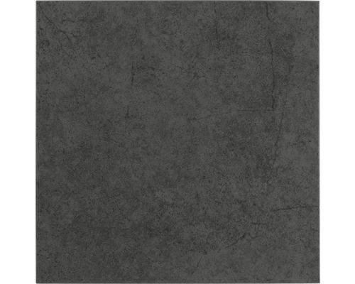 Carrelage de sol anthracite 24x24cm émaillé