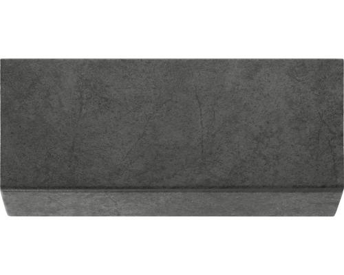 Barre longitudinale grès-cérame mica noir 24.5x10.5cm