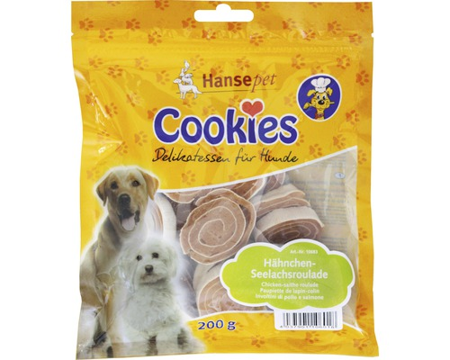 Hundesnack, Cookies Hähnchenseelachs Roulade 200g