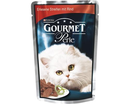 Nourriture humide pour chats, Gourmet Perle Délicieuses lamelles de boeuf 85g