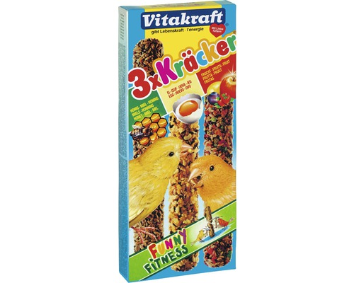 Vogelsnack, Vitakraft Kräcker® 3-er Mix für Kanarienvögel, 80 g