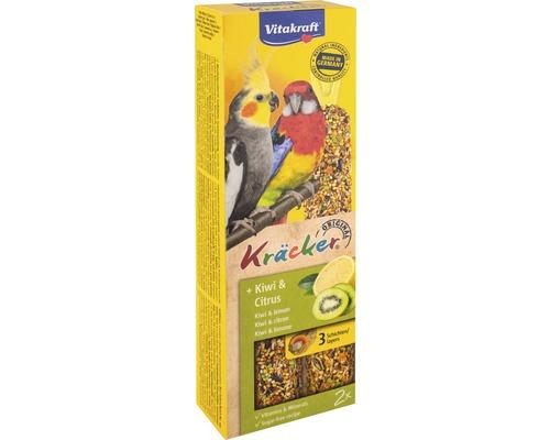 Snack pour oiseaux Vitakraft Kräcker® kiwi pour grande perruche, 2 morceaux