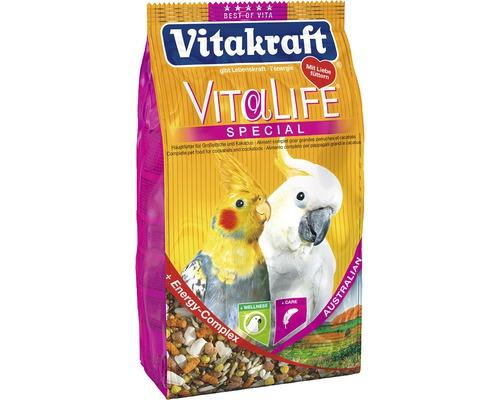Vogelfutter, Vitakraft Vita Life Spezial Australian Großsittich und Kakadu, 650 g