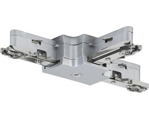 Connecteur en T URail Paulmann chrome/mat 230V