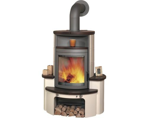Poêle Hark Avenso céramique jola-brun/pierre 7 kW