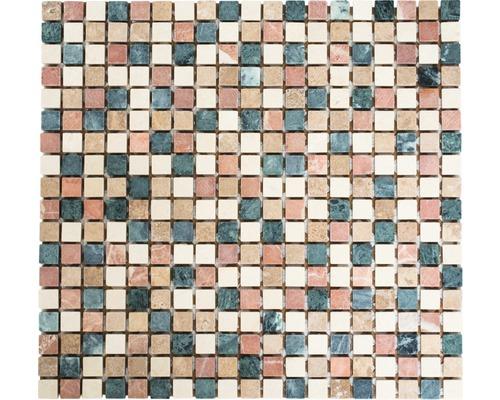 Mosaïque en pierre naturelle MOS 15/RND mix, 30,5 x 32,5 cm