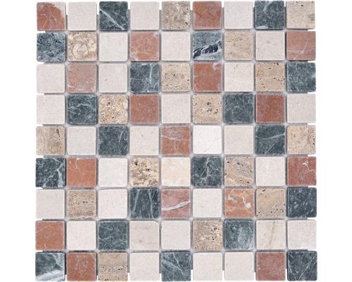 Mosaïque en marbre-pierre naturelle Random, 3,2 x 3,2 cm