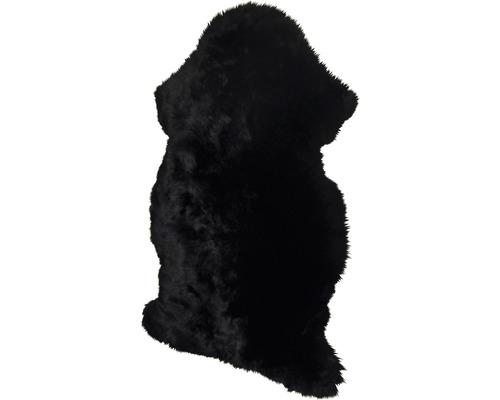Peau de mouton noire 90 x 60 cm