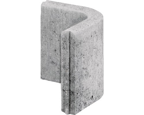 Bordure de gazon angle arrondi 90° grise 25x25x5 cm - HORNBACH ...