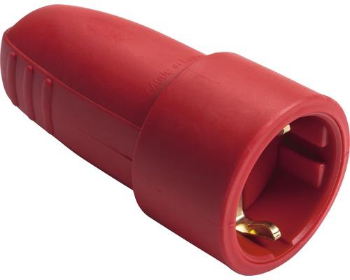 Contact de protection pour raccord en caoutchouc 16A IP20 rouge