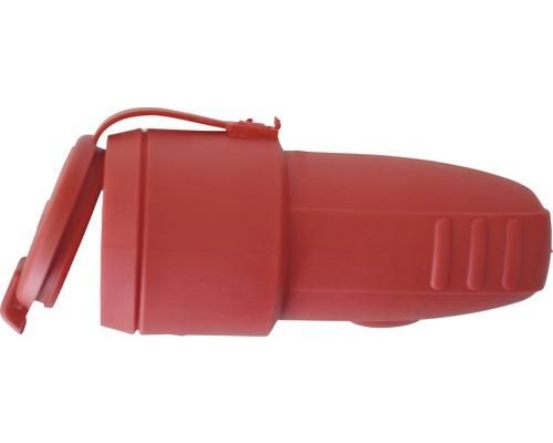 Contact de protection pour raccord en caoutchouc avec couvercle 16A IP44 rouge