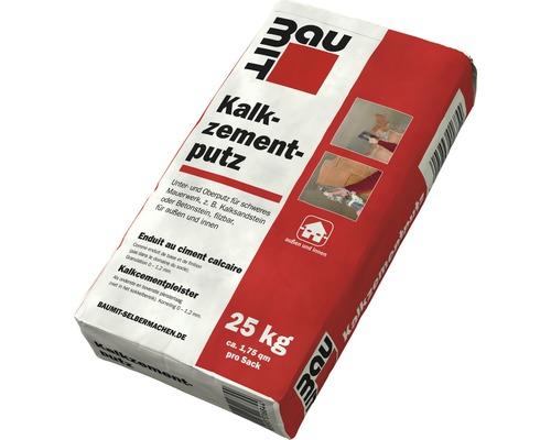 Enduit à base de chaux-ciment BAUMIT, enduit de finition pour ouvrage de maçonnerie difficile, pour l''intérieur et l''extérieur 25 kg
