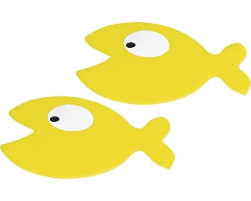 Sticker antidérapant Spirella Hungry lot de 5 jaune