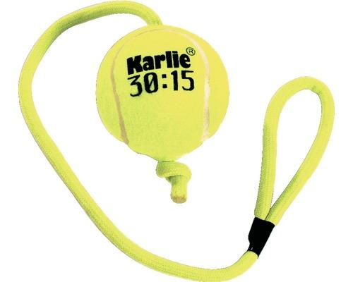 Balle de tennis avec corde 6 cm, jaune