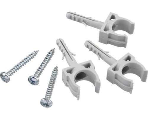 Collier de serrage à enficher M16 pour tuyau d''installation, gris 10 unités