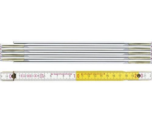 Zollstock BMI Holz 2 m beidseitig skaliert