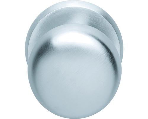 Bouton de porte d''entrée rond fixe chrome Ø 70 mm 1 pièce