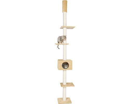 Arbre à chats Karlie Cometa avec fixation plafond 35x35x263cm beige