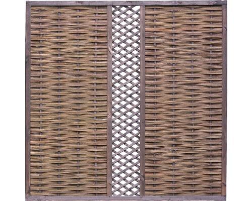 Brise-vue avec avec treillis en osier 180 x 180 cm, nature