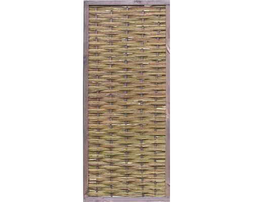 Panneau en bois avec cadre en osier 90x180 cm, nature