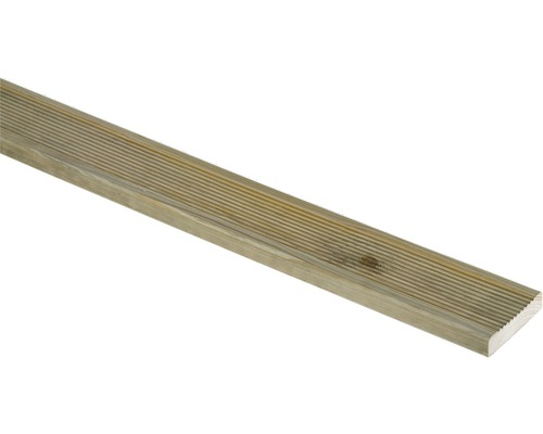 Planche pour terrasses sapin imprégné en autoclave vert 21x90x2500mm