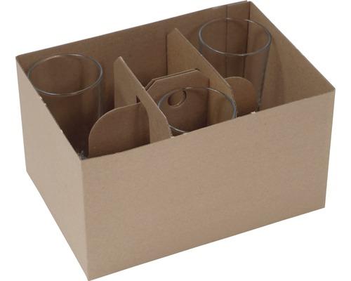 Support pour verres pour carton de déménagement, 12 pièces